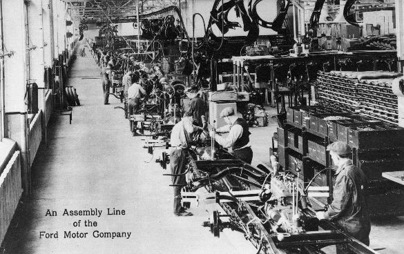 An Assembly line at Ford