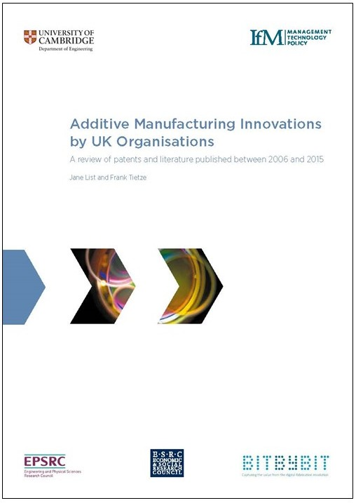 Additive manufacturing innovations